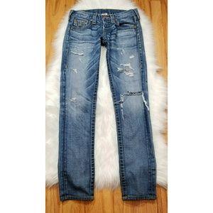 True Religion Cameron Boyfriend Distressed Jeans
